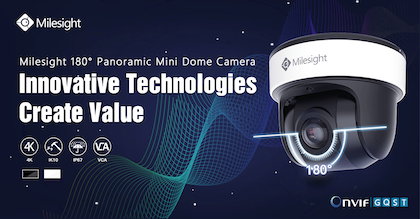 What makes the Milesight 180° Panoramic Mini Dome special?